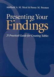 Cover of: Presenting your findings: a practical guide for creating tables