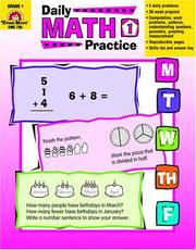 Cover of: Daily Math Practice, Grade 1 | Jill Norris