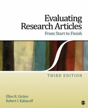 Cover of: Evaluating Research Articles From Start To Finish
