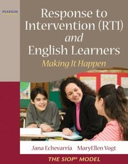 Cover of: Response to Intervention RTI and English Learners