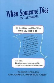 Cover of: When Someone Dies in California