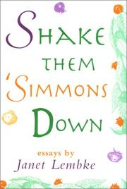 Cover of: Shake them 'simmons down