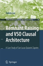 Cover of: Remnant Raising and Vso Clausal Architecture
