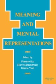 Cover of: Meaning and Mental Representation