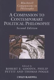 Cover of: A Companion to Contemporary Political Philosophy