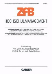 Cover of: Hochschulmanagement