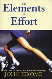 Cover of: The Elements of Effort | John Jerome