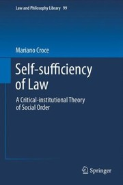 Cover of: SelfSufficiency of Law
