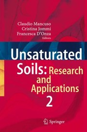 Cover of: Unsaturated Soils Research and Applications