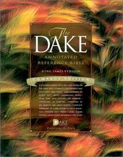 Cover of: Compact Dake Annotated Reference Bible-KJV |