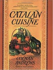 Catalan Cuisine by Colman Andrews