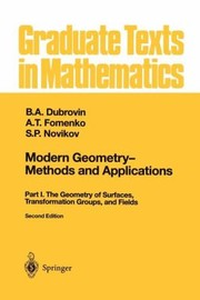 Cover of: Modern Geometry Methods and Applications Part I