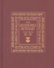 Cover of: The Anchor Bible Dictionary Volume 4