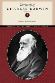 Cover of: The Works of Charles Darwin Volume 3