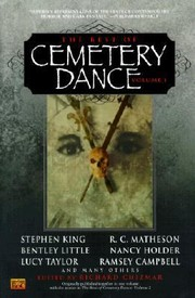 Cover of: The Best of Cemetary Dance Vol 1