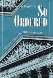 Cover of: So ordered