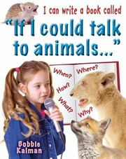 Cover of: I Can Write a Book Called If I Could Talk to Animals