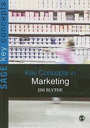 Cover of: Key Concepts in Marketing