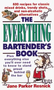 Cover of: The everything bartender's book