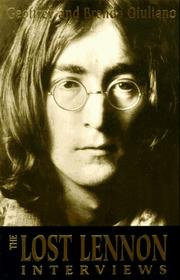 Cover of: The lost Lennon interviews