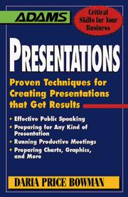 Cover of: Presentations