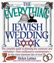 Cover of: everything Jewish wedding book | Helen Latner