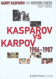 Cover of: Kasparov Vs Karpov 19861987