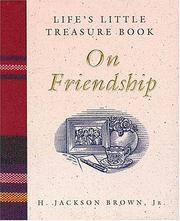 Cover of: Life's little treasure book on friendship