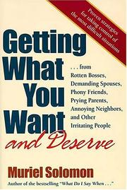 Cover of: Getting what you want and deserve | Muriel Solomon