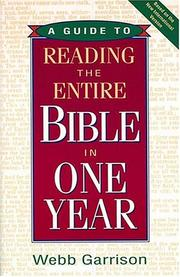 Cover of: A guide to reading the entire Bible in one year