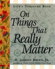 Cover of: Life's Treasure Book on Things that Really Matter