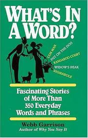 Cover of: What's in a word?