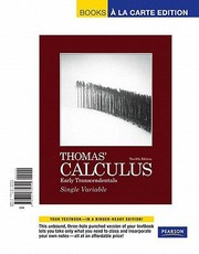 Cover of: Thomas Calculus Early Transcendentals