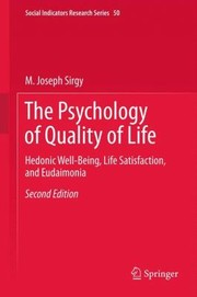 Cover of: The Psychology of Quality of Life