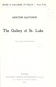 Cover of: The Gallery of St. Luke | Aristide Sartorio