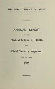 Cover of: [Report 1952] | Alton (England). Rural District Council