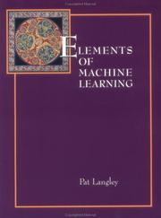 Cover of: Elements of machine learning