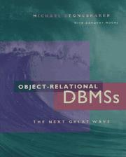 Cover of: Object-relational DBMSs