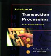 Cover of: Principles of transaction processing