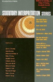 Cover of: Statutory Interpretation Stories