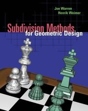 Cover of: Subdivision Methods for Geometric Design | Joe Warren