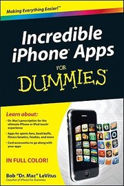 Cover of: Incredible Iphone Apps For Dummies