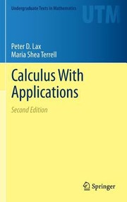 Cover of: Calculus With Applications