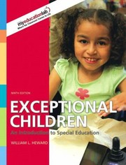 Cover of: Exceptional Children An Introduction To Special Education