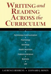 Cover of: Writing and Reading Across the Curriculum With Mycomplab