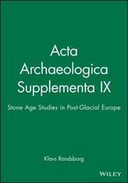 Cover of: ACTA Archaeologica Supplementa IX