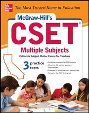 Cover of: Mcgrawhills Cset Multiple Subjects