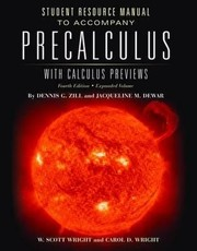 Cover of: Precalculus With Calculus Previews Student Resource Manual