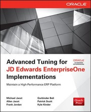 Cover of: Advanced Tuning For Jd Edwards Enterpriseone Implementations