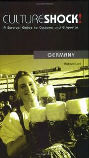 Cover of: Culture Shock! Germany | Richard Lord